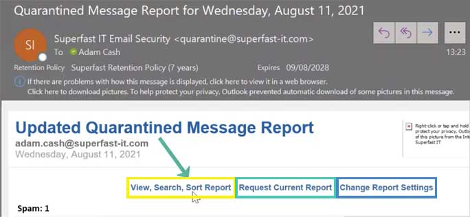 How to release quarantined emails