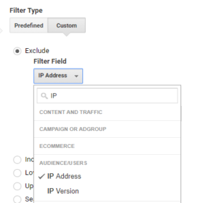 IP Address Filter Google Analytics