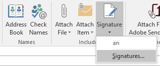 Outlook e-mail signature