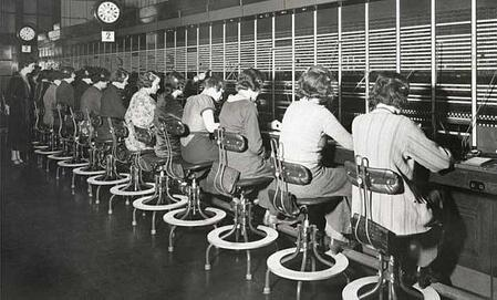 Phone systems modernising - old telephone exchange