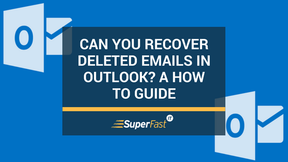 Can you recover deleted emails in Outlook?